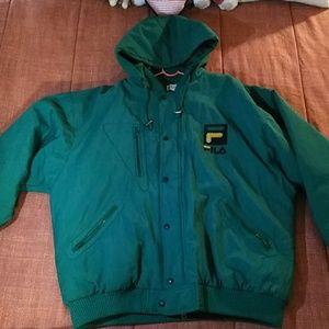 Green and gold Retro Fila Jacket